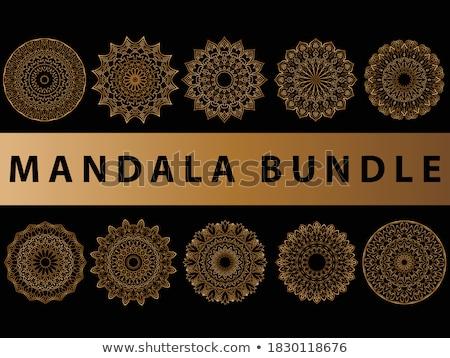 Esküvői meghívó terv mandala stílus művészet minta Stock fotó © SArts