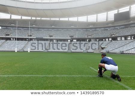 вид сзади регби игрок мяча цель Сток-фото © wavebreak_media