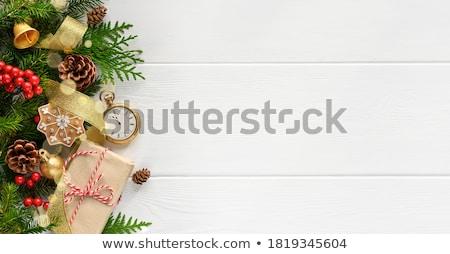 Noel tebrik mavi kart cep renkli Stok fotoğraf © romvo