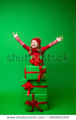 Beautiful girl vermelho seis belo mulher jovem Foto stock © svetography