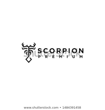 Escorpión icono simple tatuaje diseno fondo Foto stock © jiaking1
