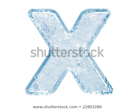 Ice font letter X 3D Stock photo © djmilic