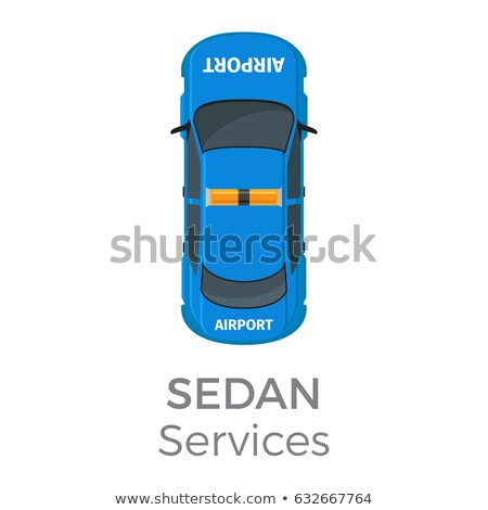 Airport Service Sedan Top View Flat Vector Icon Stock photo © robuart