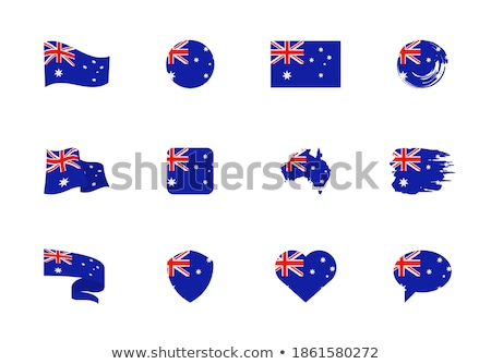 Australia flat heart flag Stock photo © Amplion