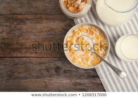 glass of corn flakes stock photo © digifoodstock
