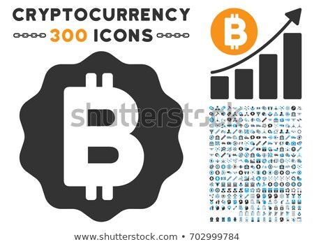 Ethereum Medal Coin Flat Icon with Set Stock photo © ahasoft