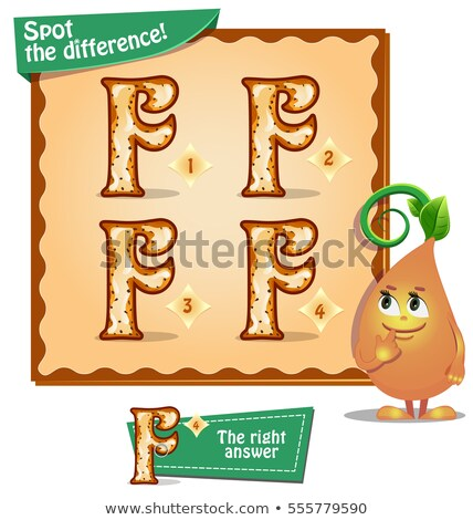 Spot the difference letters f stock photo © Olena