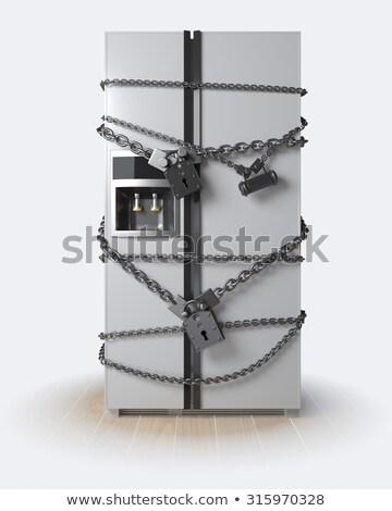 диета безопасной холодильнике форме стороны далеко Сток-фото © Olena