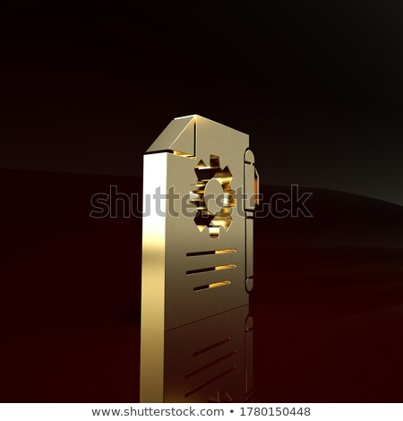 Document Management on Golden Cog Gears. 3D. Stock photo © tashatuvango