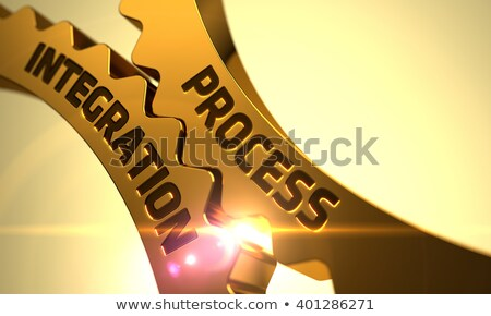 dourado · engrenagens · produtividade · crescimento · mecanismo · metálico - foto stock © tashatuvango