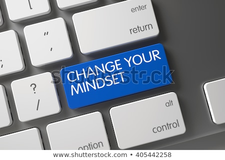 Blue Change Your Mindset Button on Keyboard. 3D. Stock photo © tashatuvango