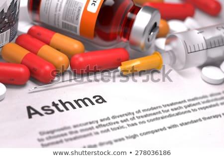 asthma diagnosis medical concept 3d render stock photo © tashatuvango