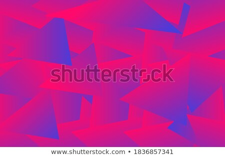 Purple triangles background with shadows, violet papers vector template, modern pattern stock photo © kurkalukas