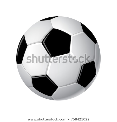 soccer ball   modern vector realistic isolated clip art stock photo © decorwithme