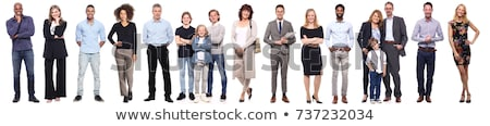 Businessman and laughing woman standing Stock photo © IS2