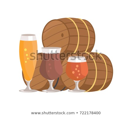 three beer barrels degustation vector illustation stock photo © robuart