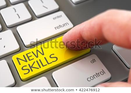 új képességek billentyűzet kulcs modern numerikus billentyűzet Stock fotó © tashatuvango