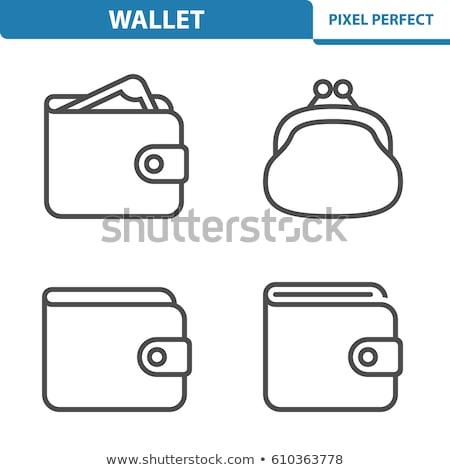 кошелька икона белый бизнеса деньги бумаги Сток-фото © smoki