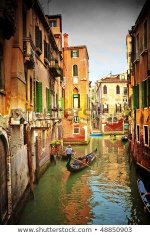 Canal in Venice, Italy. Exquisite buildings along Canals. Stock photo © Virgin