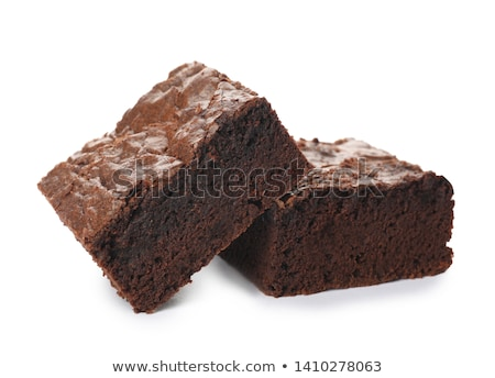 brownie isolated on white Stock photo © M-studio
