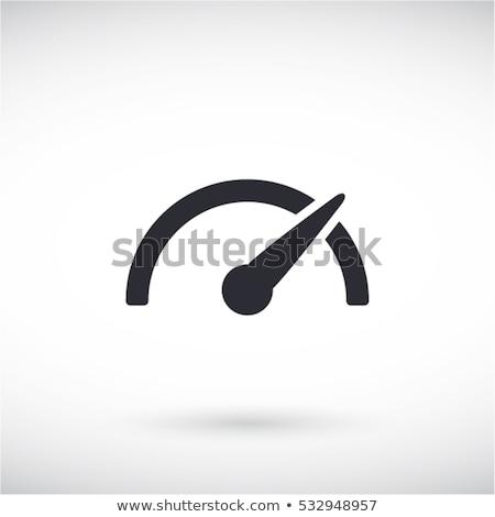 спидометр икона белый спорт дизайна спортивных Сток-фото © smoki