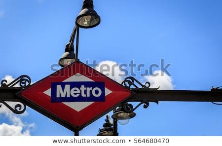 metro sign in madrid stock photo © benkrut