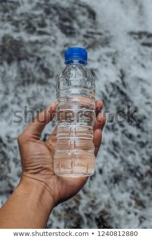Lány vízesés izolált természetes merő víz Stock fotó © MaryValery
