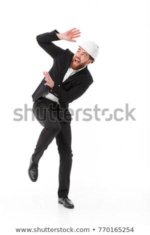 страшно деловой человек шлема кричали бородатый Сток-фото © deandrobot