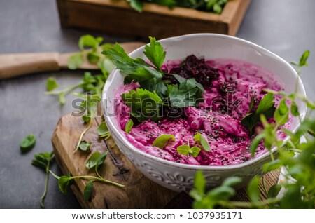 Cékla salátástál étel saláta diéta vág Stock fotó © M-studio