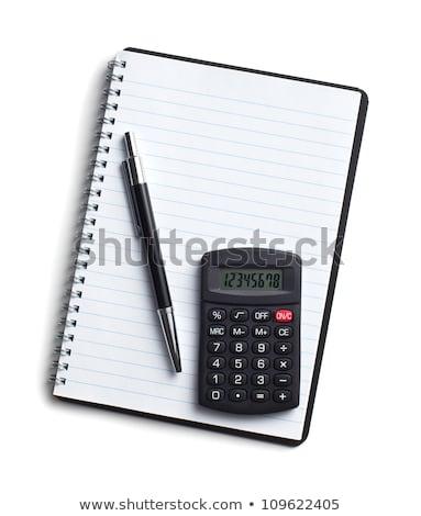 Tiszta lap notebook toll számológép spirál Stock fotó © ivelin