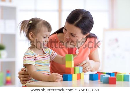 иллюстрация · детей, · играющих · классе · ребенка · мальчика · черный - Сток-фото © bluering