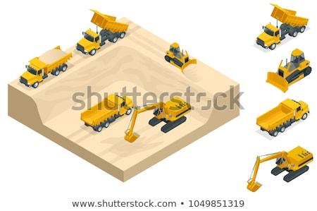 Escavadeira trabalhar industrial trabalho sujeira roda Foto stock © martin33
