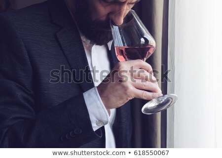 mature man smells rose. Stock photo © IS2