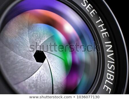 Ver invisible lente de la cámara primer plano 3D lente Foto stock © tashatuvango