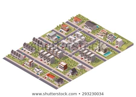 inteligente · carro · transporte · público · rua · estrada · vetor - foto stock © studioworkstock