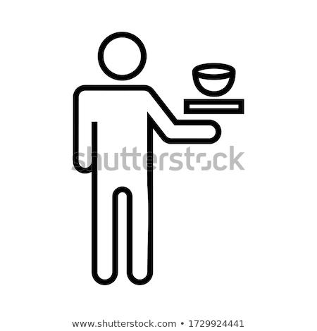 fast · food · ontwerp · stijl · zwarte · Geel · witte - stockfoto © studioworkstock