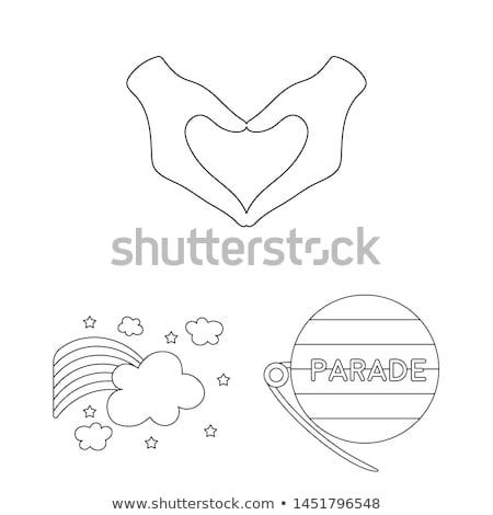 Szett szexualitás ikon szett ikonok felirat női Stock fotó © AbsentA