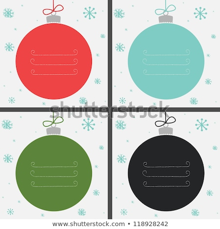 colorful christmas baubles on a chalkboard stock photo © andreasberheide