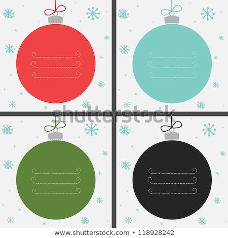 boord · sneeuwvlokken · christmas · vakantie · feestelijk - stockfoto © andreasberheide