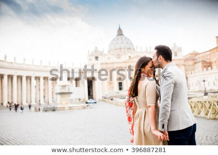 Foto stock: Amoroso · casal · vaticano · Itália · amor · cidade