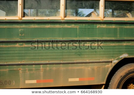 Dusty green bus, side view Stock photo © IS2
