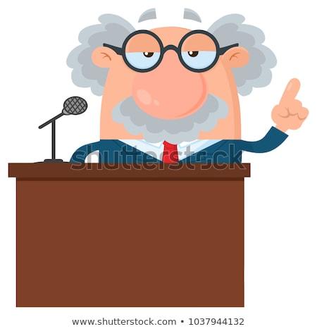 komische · cartoon · hoogleraar · retro · stijl - stockfoto © hittoon