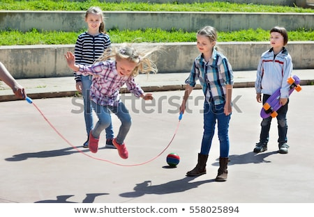 Kids are Playing on the Street Side Stock photo © bluering