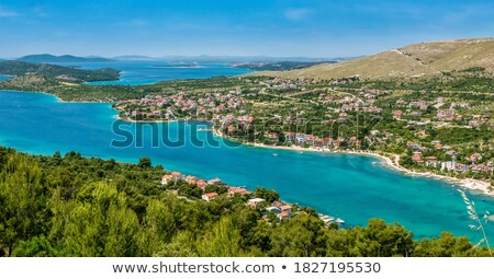 Beautiful landscape view of the Dalmatian coastline Stock photo © grafvision