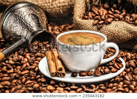 Türk Metal kahve fincanları ayarlamak dekore edilmiş küçük Stok fotoğraf © grafvision