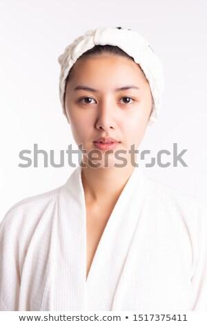 Girl wearing bathrobe Stock photo © IS2