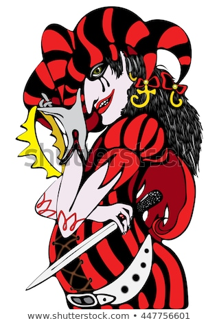 hat cap devil horror   cartoon illustration stock photo © rwgusev