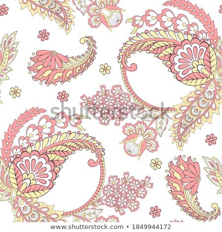 ornamento · floreale · tende · vettore · fiore - foto d'archivio © sanyal