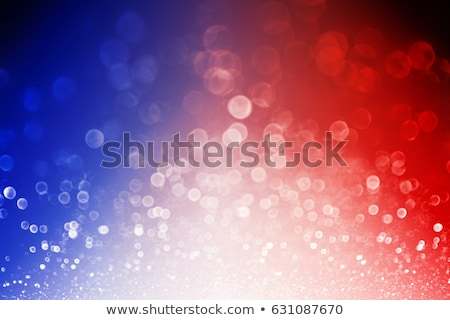 4th of July blue fireworks and flag Stock photo © TasiPas