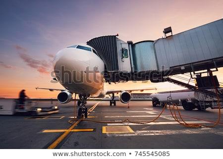 аэропорту Jet моста внутри мнение самолет Сток-фото © alexaldo